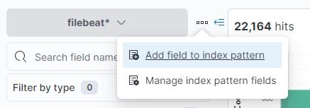 The add field button in Kibana Discover
